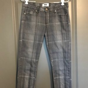 Paige Grey Plaid Jeans